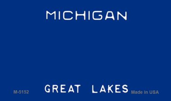 Michigan State Background Blank Novelty Metal Magnet M-5152