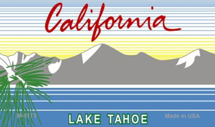 California Lake Tahoe State Background Blank Novelty Metal Magnet M-5173