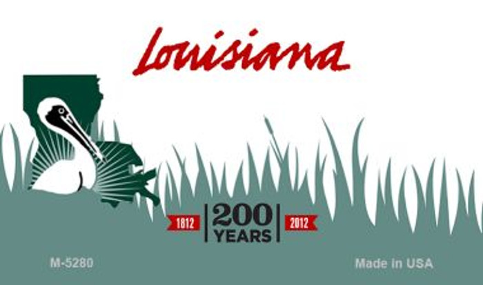 Louisiana State Background Blank Novelty Metal Magnet M-5280
