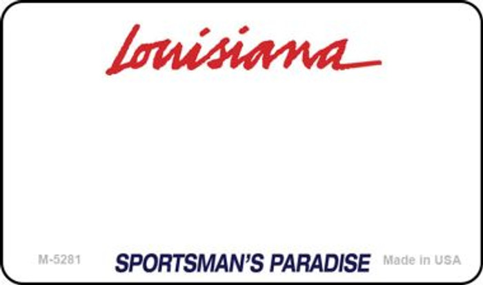 Louisiana State Background Blank Novelty Metal Magnet M-5281