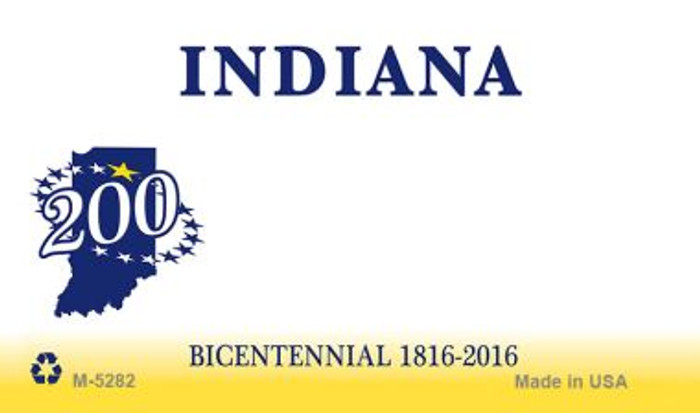 Indiana State Background Blank Novelty Metal Magnet M-5282