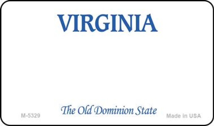 Virginia State Background Blank Novelty Metal Magnet M-5329