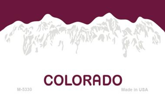 Colorado State Background Blank Novelty Metal Magnet M-5330