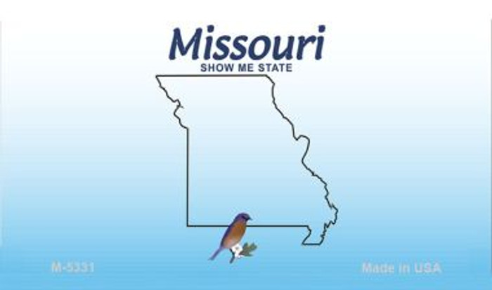 Missouri State Background Blank Novelty Metal Magnet M-5331