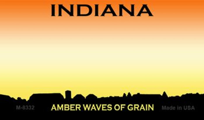 Indiana State Background Blank Novelty Metal Magnet M-8332