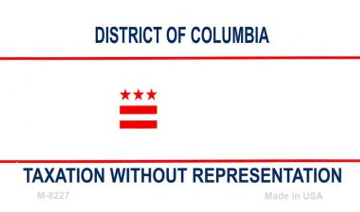 District Of Columbia Blank Background Novelty Metal Magnet M-8227