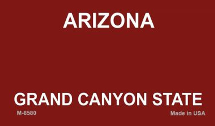 Arizona State Background Blank Novelty Metal Magnet M-8580