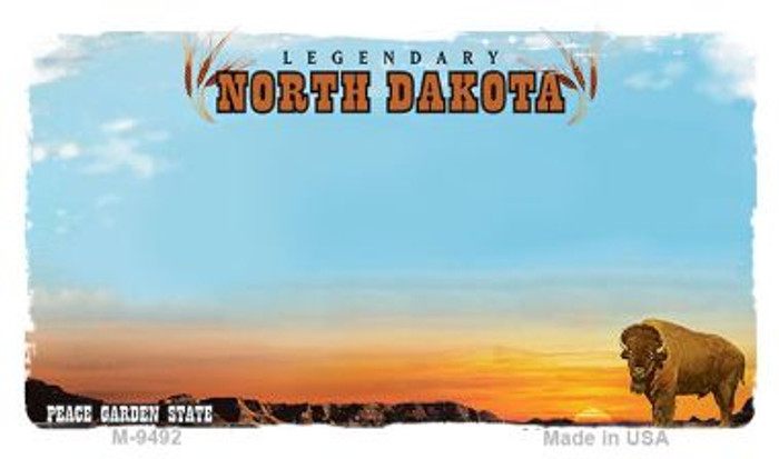 North Dakota State Background Blank Novelty Metal Magnet M-9492