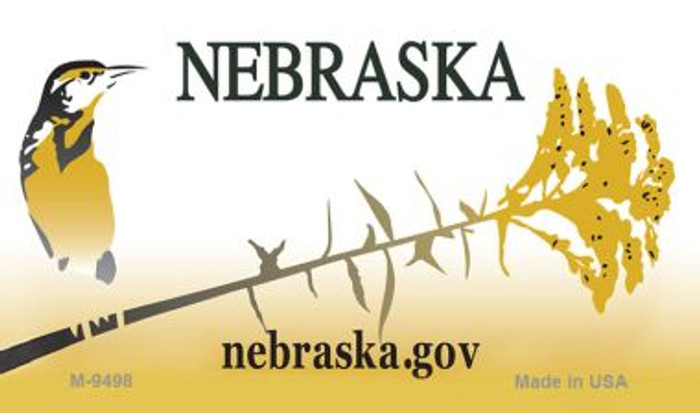 Nebraska State Background Blank Novelty Metal Magnet M-9498