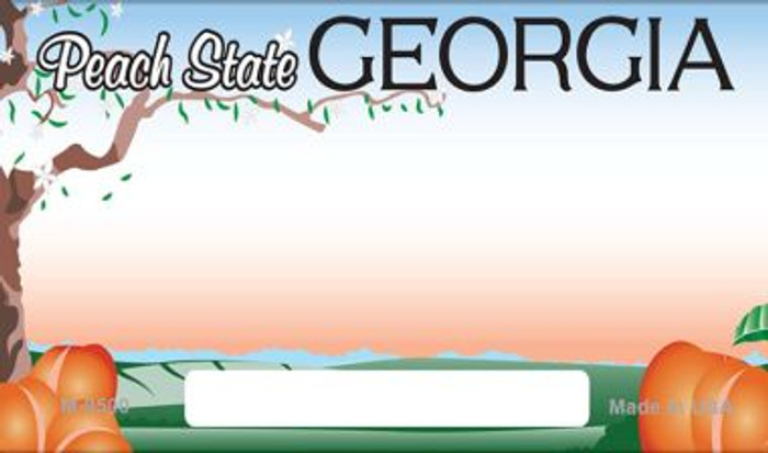 Georgia State Background Blank Novelty Metal Magnet M-9500