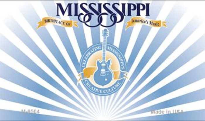 Mississippi State Background Blank Novelty Metal Magnet M-9504