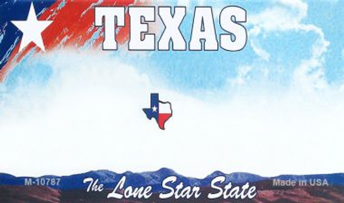 Texas State Background Blank Novelty Metal Magnet M-10787
