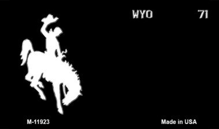 Wyoming Black State Background Blank Novelty Metal Magnet M-11923