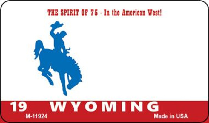 Wyoming State Background Blank Novelty Metal Magnet M-11924