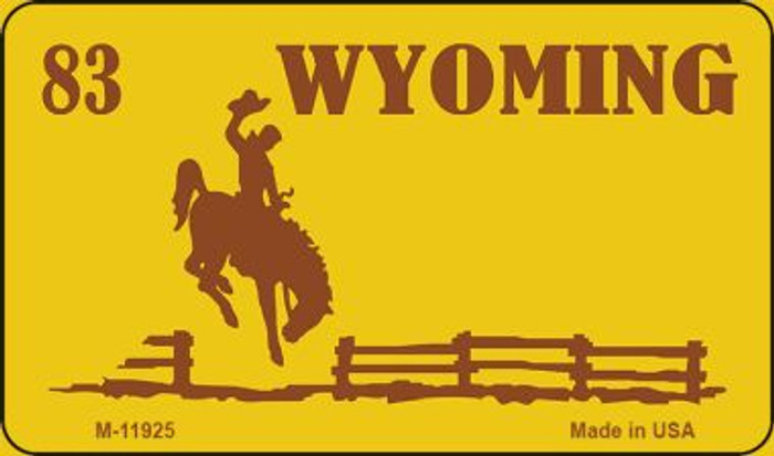 Wyoming Yellow State Background Blank Novelty Metal Magnet M-11925