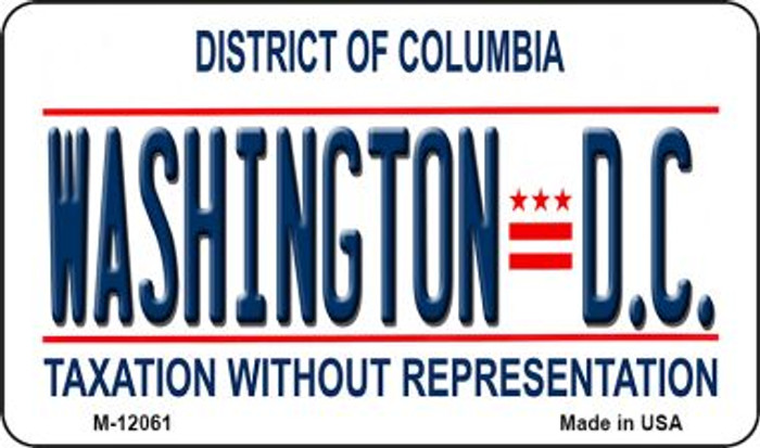 District Of Columbia State Background Novelty Metal Magnet M-12061