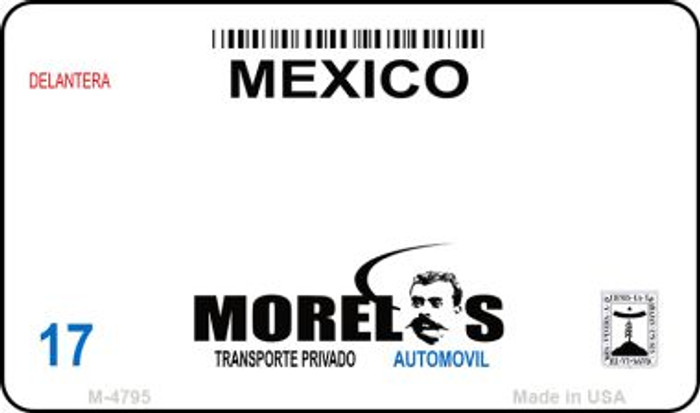 Morelos Mexico Blank Background Novelty Metal Magnet M-4795