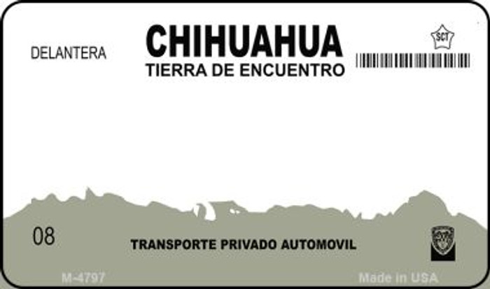 Chihuahua Mexico Blank Background Novelty Metal Magnet M-4767