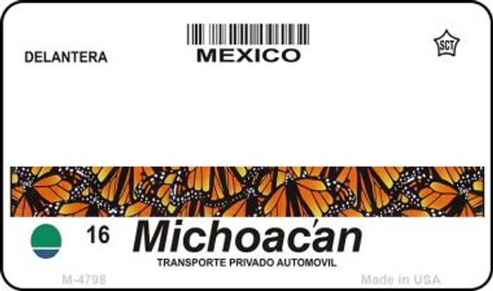 Michoacan Mexico Blank Background Novelty Metal Magnet M-4768