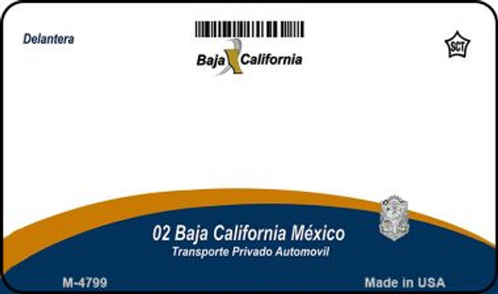 Baja California Mexico Blank Background Novelty Metal Magnet M-4799
