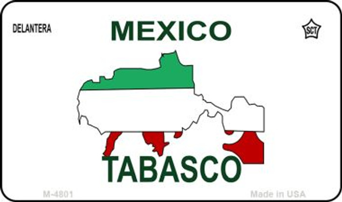 Tabasco Mexico Blank Background Novelty Metal Magnet M-4801