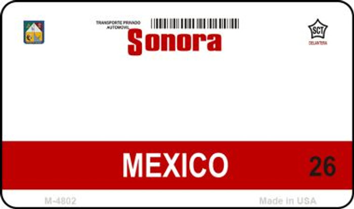 Sonora Mexico Blank Background Novelty Metal Magnet M-4802
