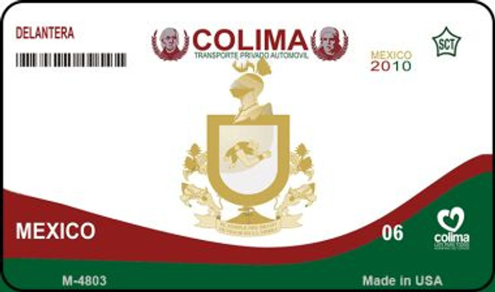 Colima Mexico Blank Background Novelty Metal Magnet M-4803