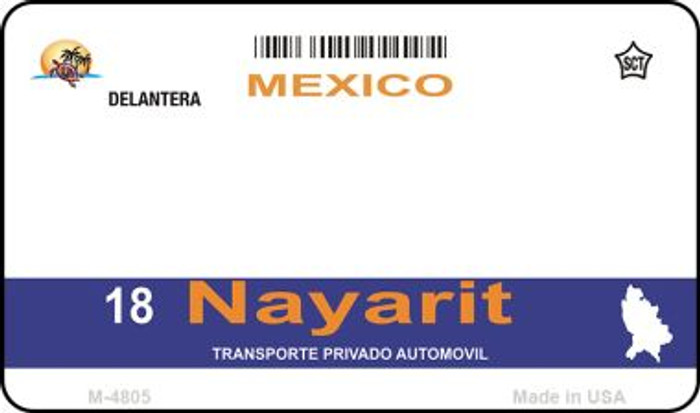 Nayarit Mexico Blank Background Novelty Metal Magnet M-4805