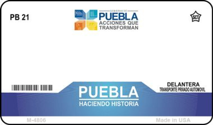 Puebla Mexico Blank Background Novelty Metal Magnet M-4806
