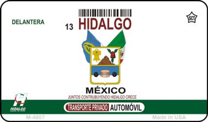 Hidalgo Mexico Blank Background Novelty Metal Magnet M-4807