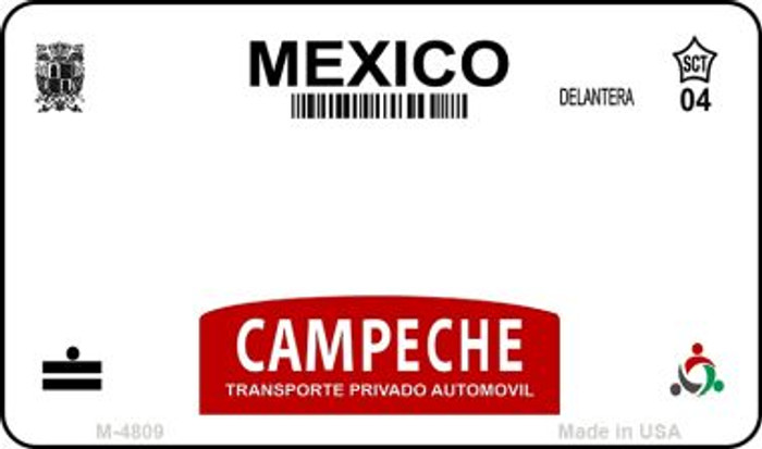 Campeche Mexico Blank Background Novelty Metal Magnet M-4809