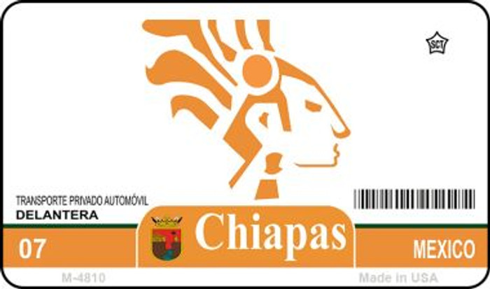 Chiapas Mexico Blank Background Novelty Metal Magnet M-4810