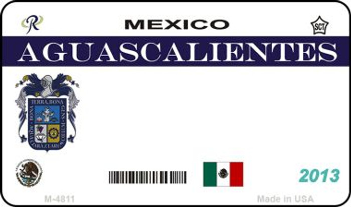 Aguascalientes Mexico Blank Background Novelty Metal Magnet M-4811
