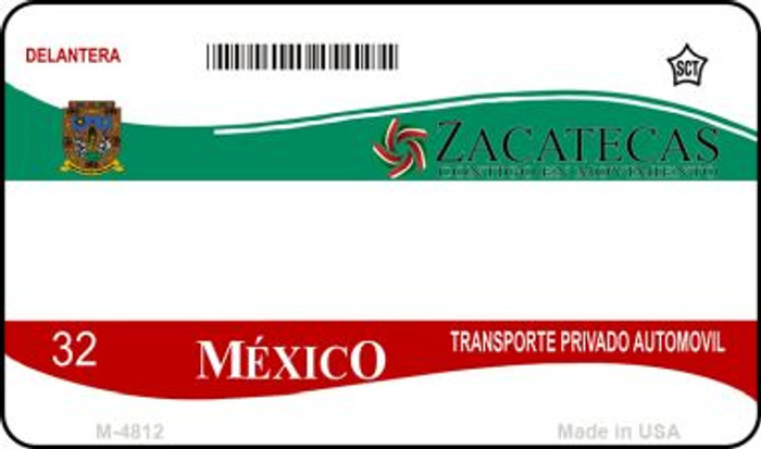 Zacatecas Mexico Blank Background Novelty Metal Magnet M-4812