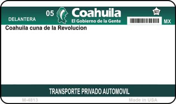 Coahuila Mexico Blank Background Novelty Metal Magnet M-4813