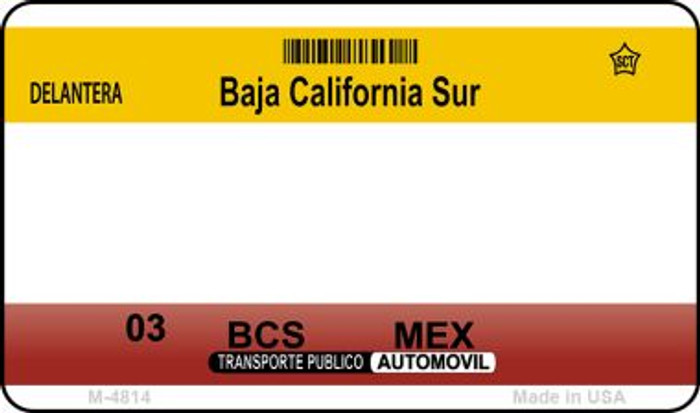 Baja California Sur Mexico Blank Background Novelty Metal Magnet M-4814