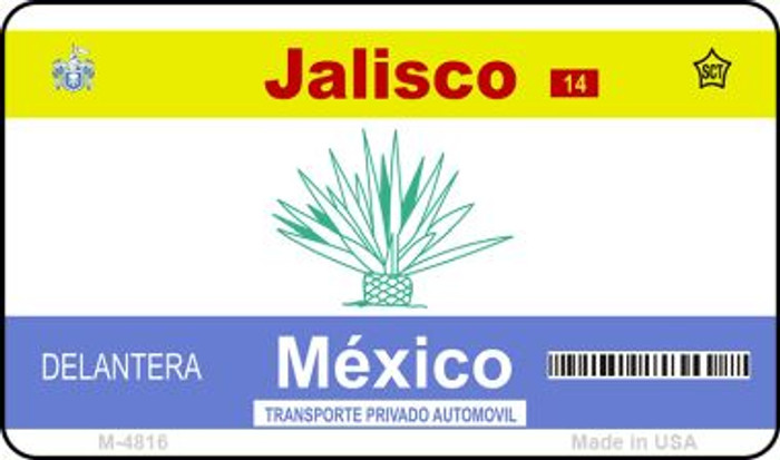 Jalisco Mexico Blank Background Novelty Metal Magnet M-4816
