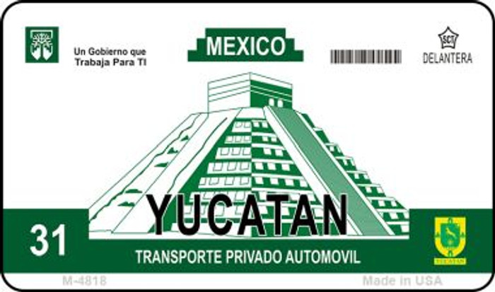 Ycatan Mexico Blank Background Novelty Metal Magnet M-4818