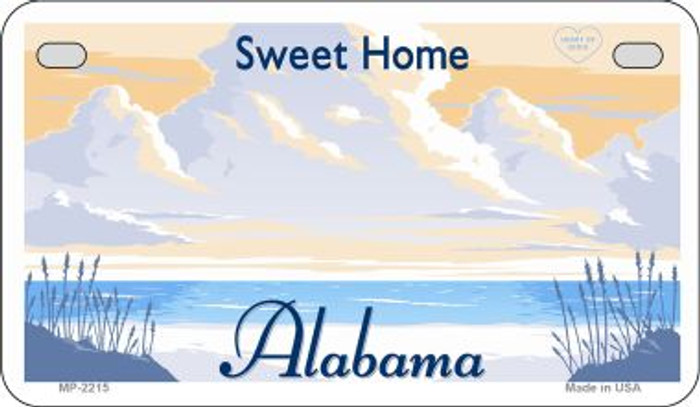 Alabama State Background Blank Novelty Metal Motorcycle Plate MP-2215