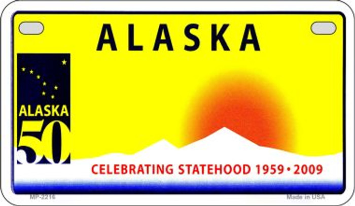 Alaska State Background Blank Novelty Metal Motorcycle Plate MP-2216