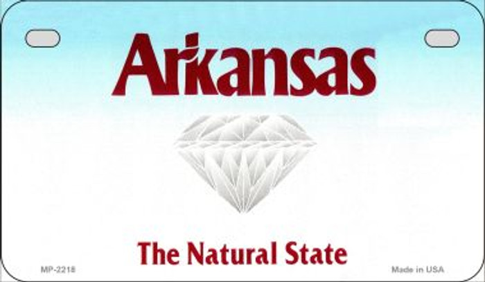 Arkansas State Background Blank Novelty Metal Motorcycle Plate MP-2218