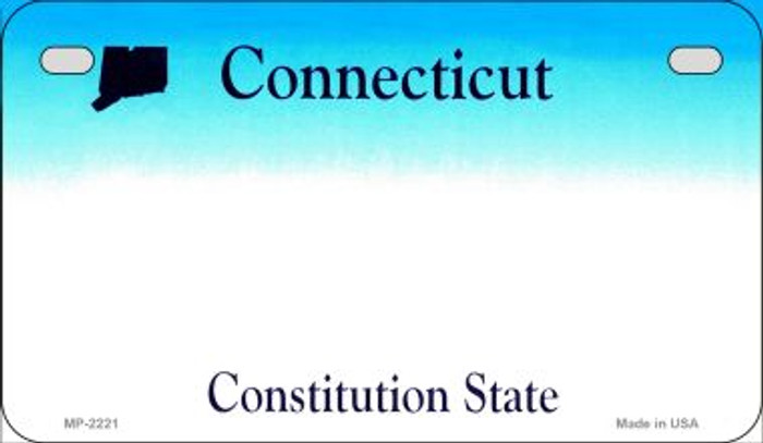 Connecticut State Background Blank Novelty Metal Motorcycle Plate MP-2221