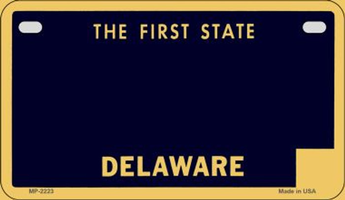 Delaware State Background Blank Novelty Metal Motorcycle Plate MP-2223