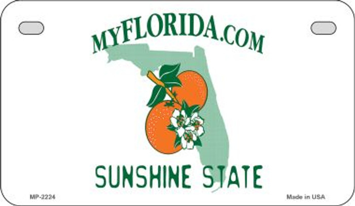 Florida State Background Blank Novelty Metal Motorcycle Plate MP-2224
