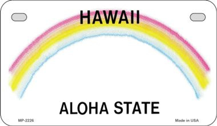 Hawaii State Background Blank Novelty Metal Motorcycle Plate MP-2226
