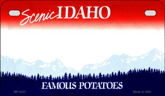 Idaho State Background Blank Novelty Metal Motorcycle Plate MP-2227
