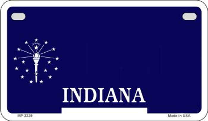 Indiana State Background Blank Novelty Metal Motorcycle Plate MP-2229