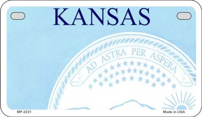 Kansas State Background Blank Novelty Metal Motorcycle Plate MP-2231