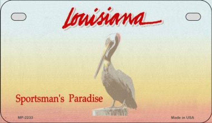Louisiana State Background Blank Novelty Metal Motorcycle Plate MP-2233