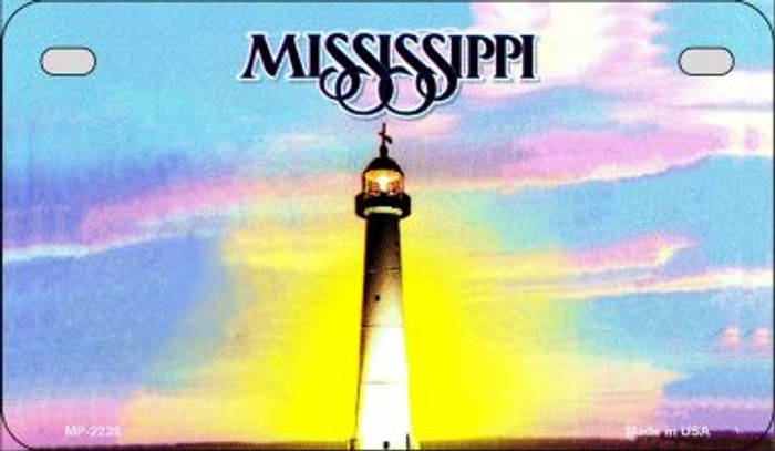 Mississippi State Background Blank Novelty Metal Motorcycle Plate MP-2239